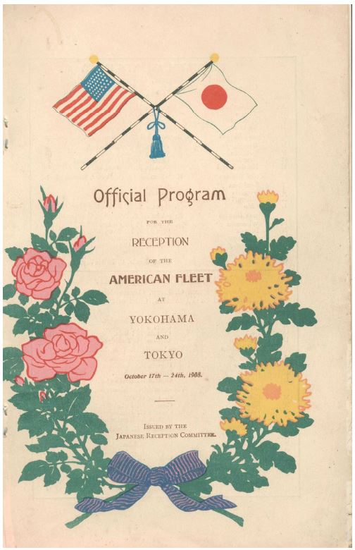 Official Program - American Fleet in Tokyo 1908